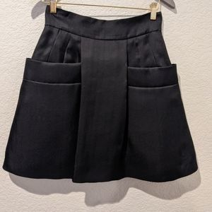Chloe 38 black pocket box pleated skirt